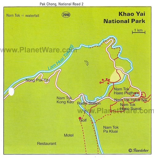 Khao Yai National Park, Nakhon Ratchasima - Map
