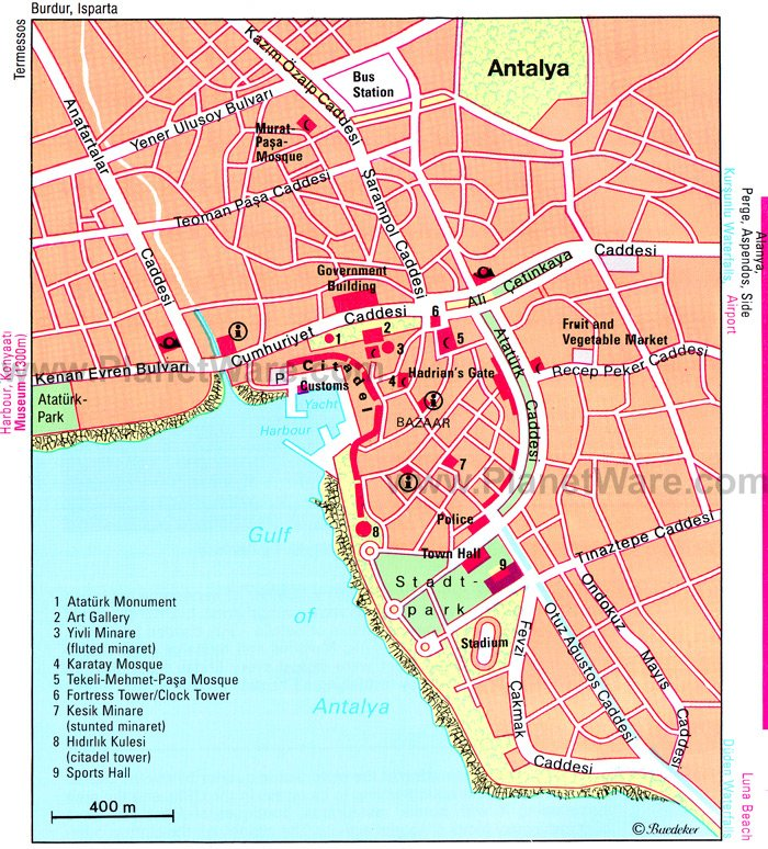 14 TopRated Tourist Attractions in Antalya – Turkey Tourist Attractions Map