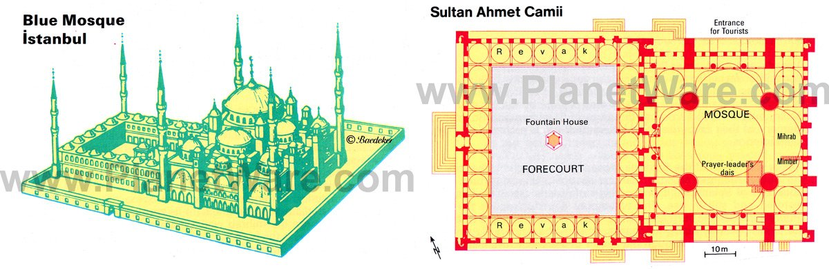 Istanbul - Blue Mosque - Floor plan map