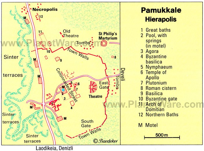 14 TopRated Tourist Attractions in Pamukkale – Turkey Tourist Attractions Map