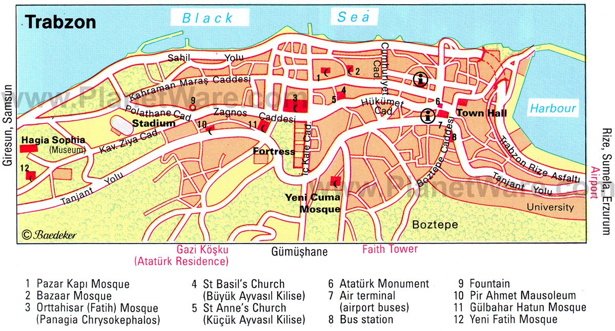 14 TopRated Tourist Attractions on the Black Sea Coast – Turkey Tourist Attractions Map