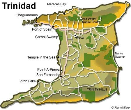 Trinidad And Tobago Travel Guide PlanetWare - Trinidad map
