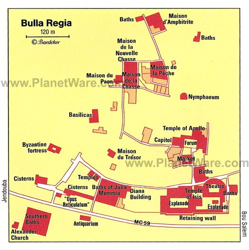 Bulla Regia - Floor plan map