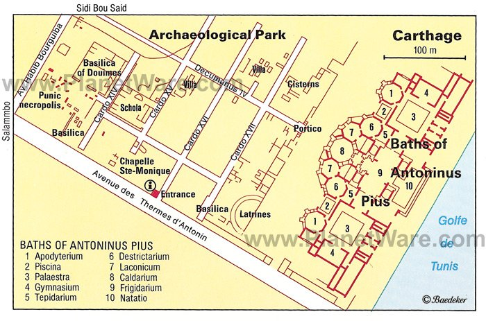 Carthage - Archeological Park - Floor plan map