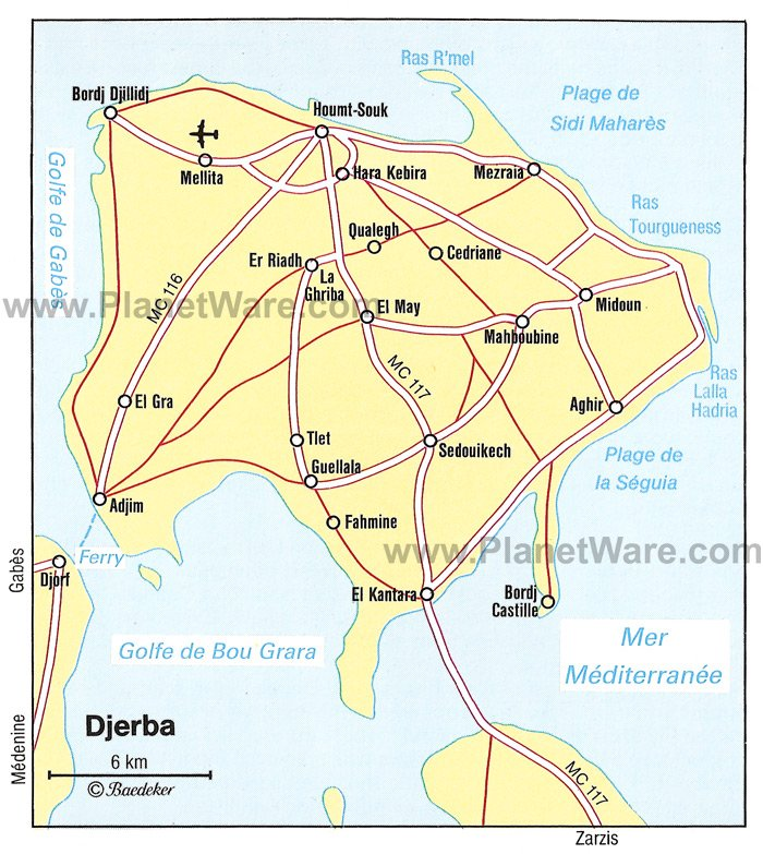 djerba mapa 14 Top Rated Tourist Attractions in Djerba | PlanetWare djerba mapa