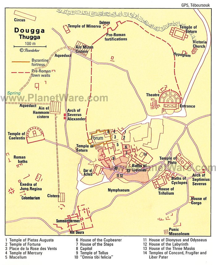 Dougga - Plano de planta