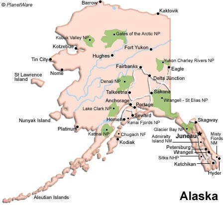 photo relating to Printable Maps of Alaska titled Alaska Drive Marketing consultant PlanetWare