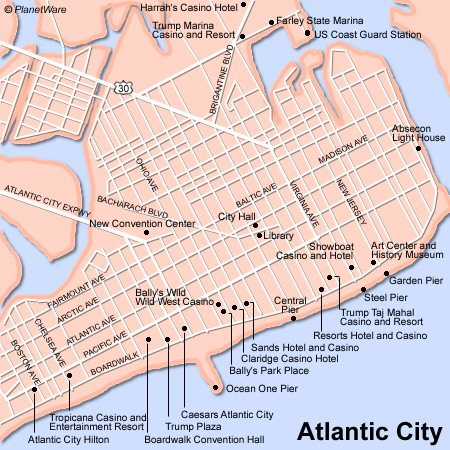 Revel Casino Atlantic City Map