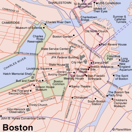 photograph about Printable Map of Boston named Boston United states Cruise Port of Contact