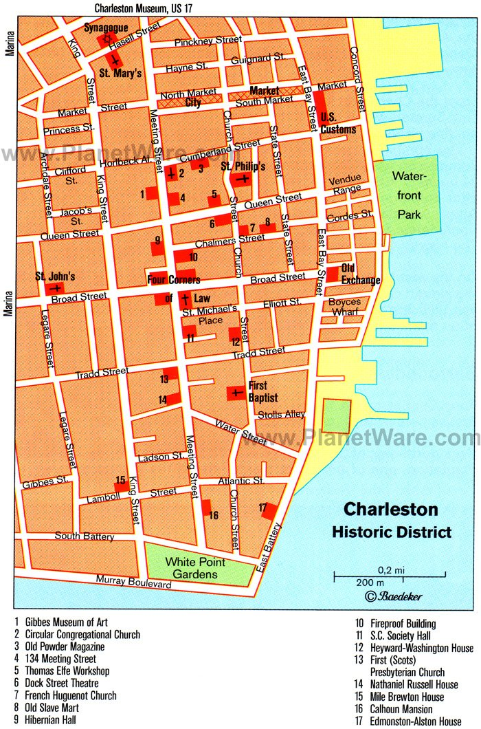 14 TopRated Tourist Attractions in Charleston South Carolina – Savannah Tourist Attractions Map