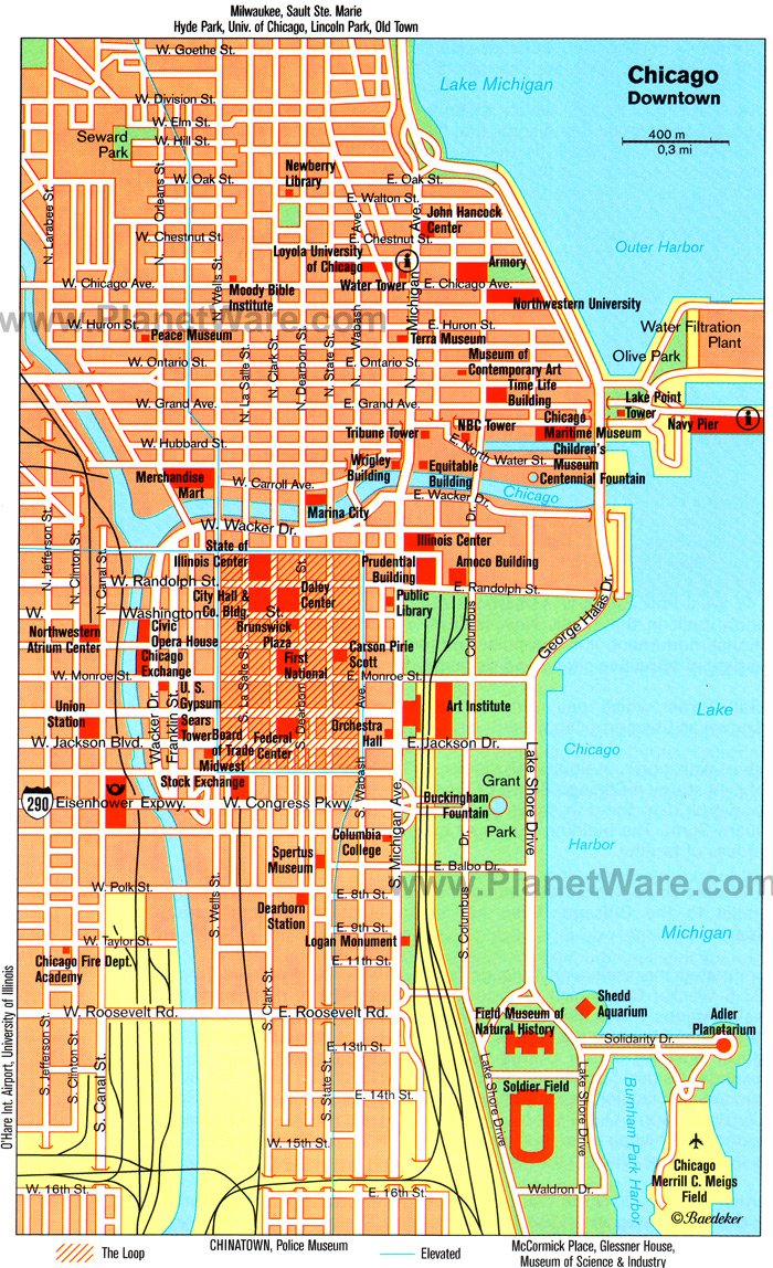 TopRated Tourist Attractions In Chicago PlanetWare - Us map chicago illinois