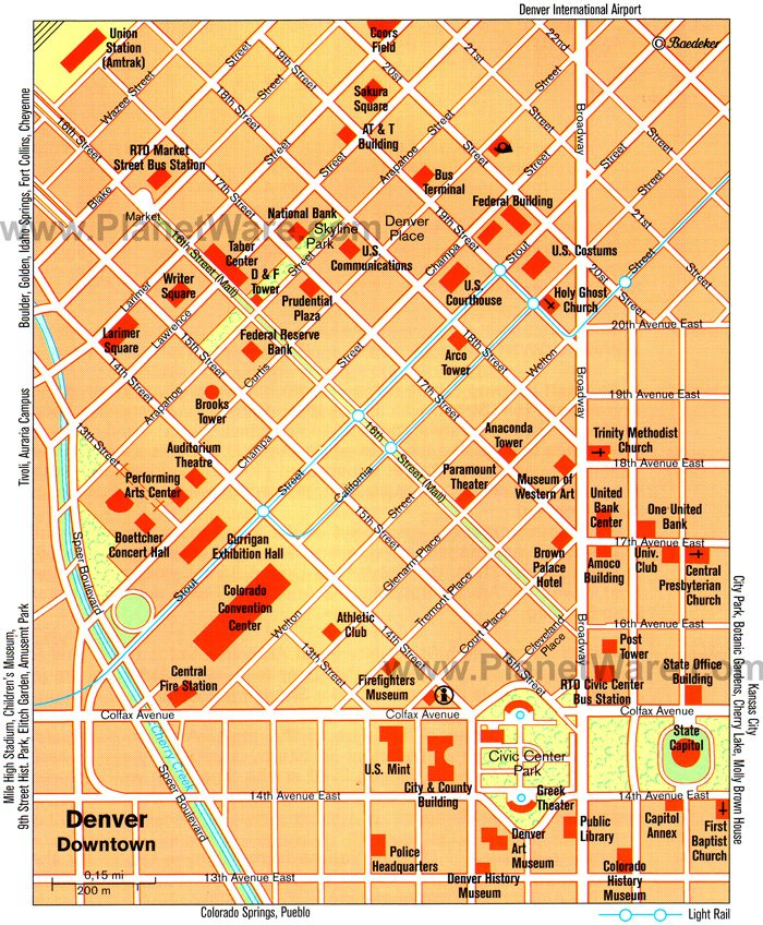14 TopRated Tourist Attractions in Denver – Santa Fe Tourist Map