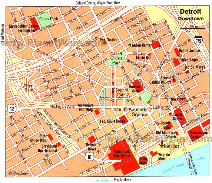 13 TopRated Tourist Attractions in Detroit – Cincinnati Tourist Attractions Map