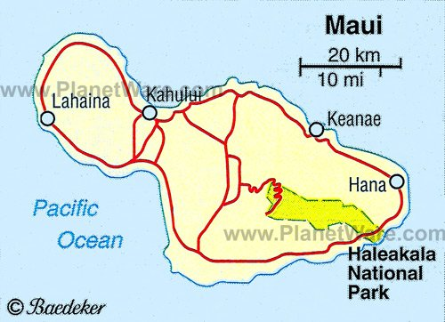 Haleakala National Park Location Map