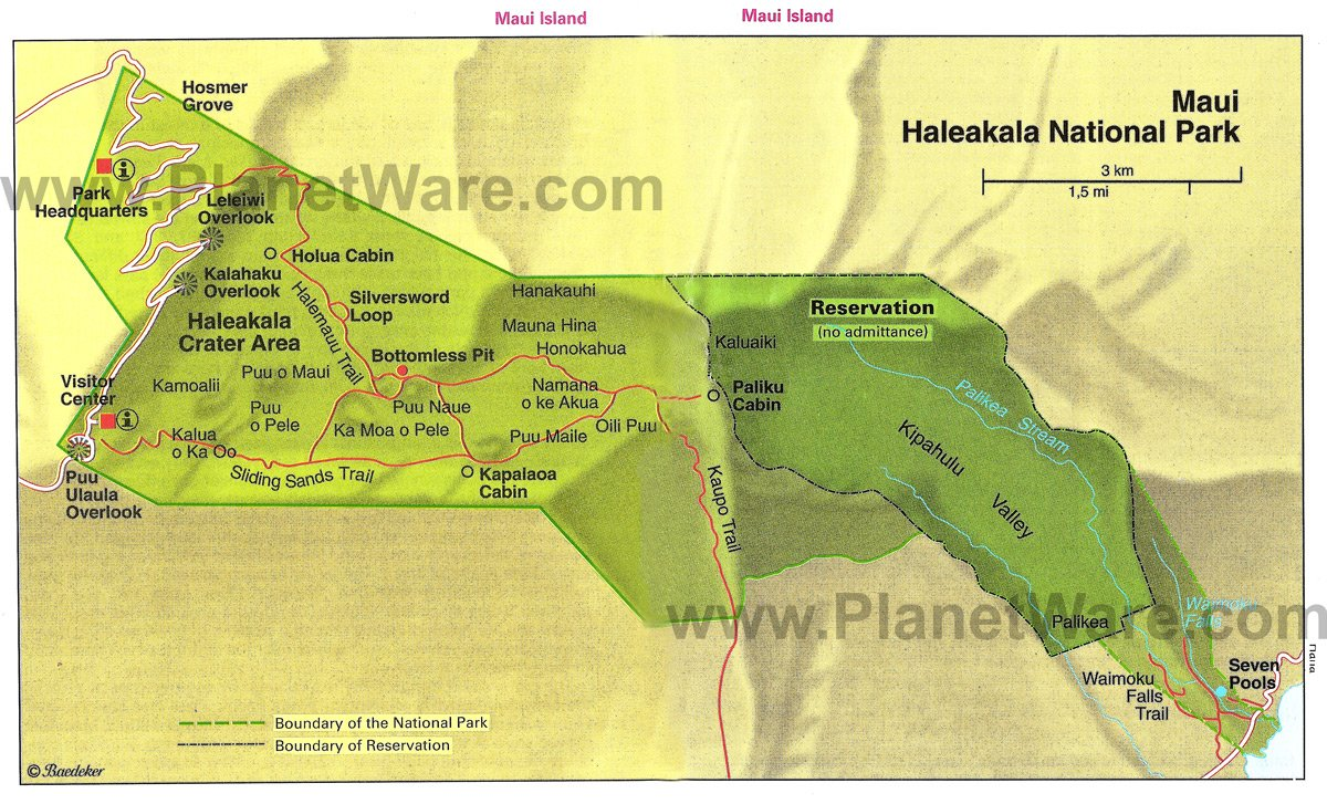Haleakala National Park - Floor plan map