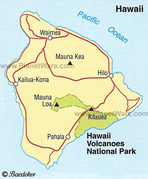 Hawaii Volcanoes National Park Location Map