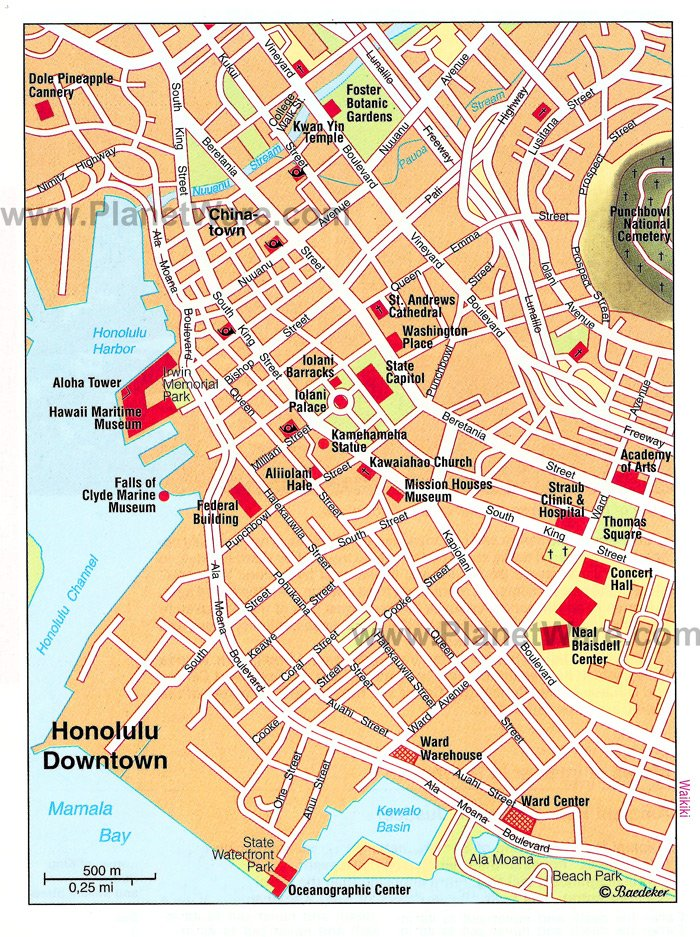 Honolulu Map Online Map – Tourist Attractions Map In Hawaii