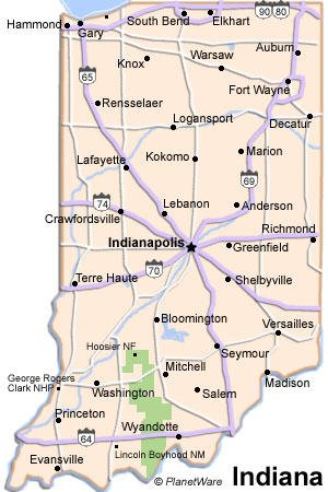 Indiana Travel Guide PlanetWare - Map indiana