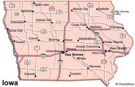 Detailed Travel Map of Cedar Rapids City