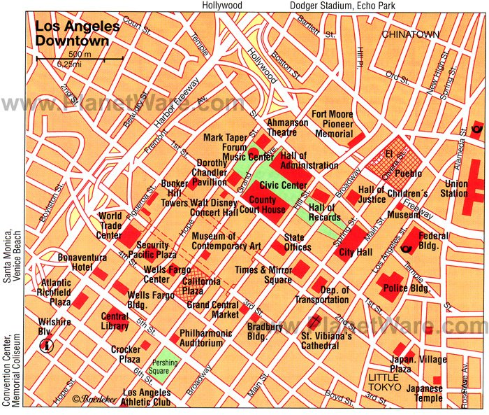 16 TopRated Tourist Attractions in Los Angeles – Venice Map Tourist