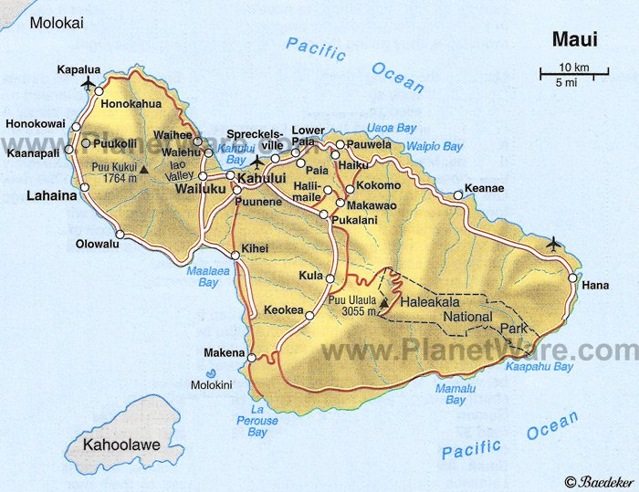 Maui Map - Tourist Attractions