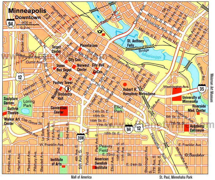 Minneapolis Map - Tourist Attractions