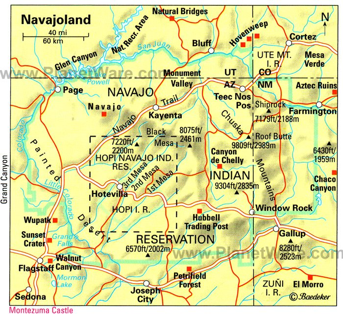 Mapof Arizona Indian Reservations Submited Images