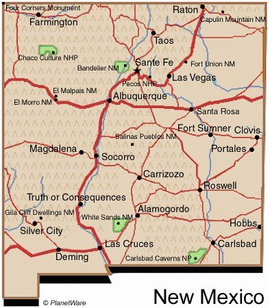 Pueblos New Mexico Map.New Mexico Travel Guide Planetware