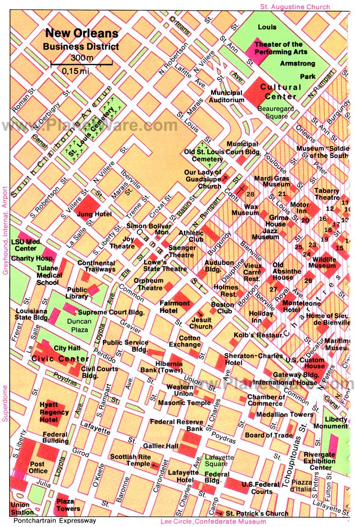 15 TopRated Tourist Attractions in New Orleans – New Orleans French Quarter Tourist Map