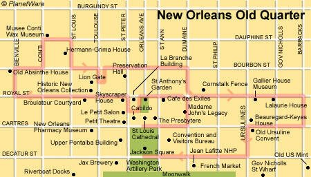 New Orleans Old Quarter - Floor plan map