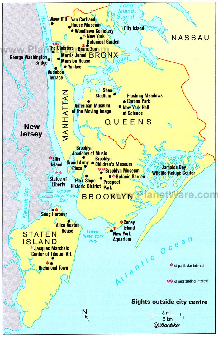 new york map city. New York City features