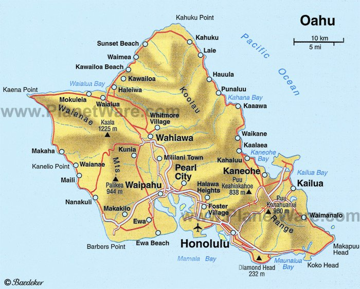 photo relating to Oahu Map Printable called 14 Ultimate-Ranked Vacationer Points of interest inside of Honolulu PlanetWare