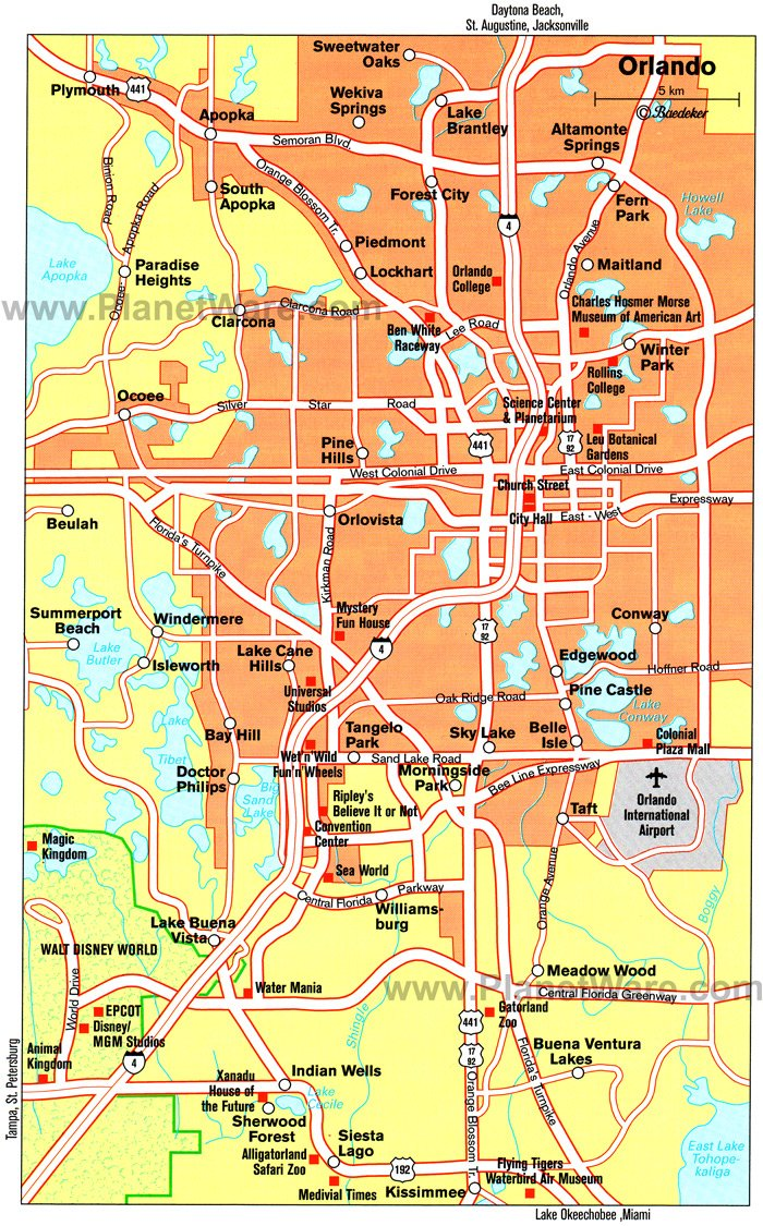 TopRated Tourist Attractions In Orlando PlanetWare - Us map of attractions