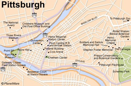 United States Map Pittsburgh