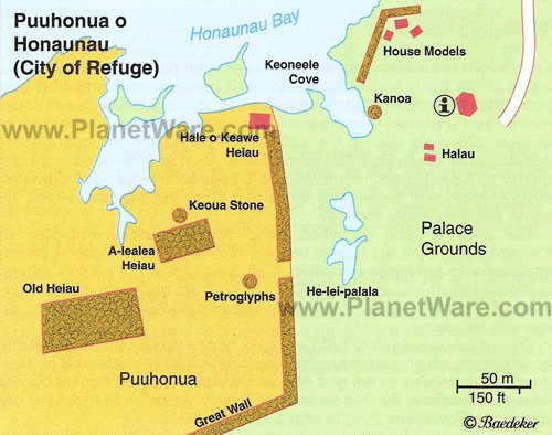 Puuhonua o Honaunau NP (City of Refuge) - Map