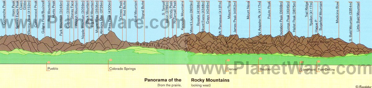 Map Rocky Mountains