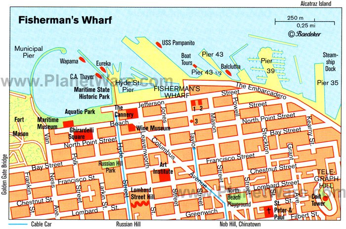 San Francisco Map Tourist.17 Top Rated Tourist Attractions In San Francisco Planetware
