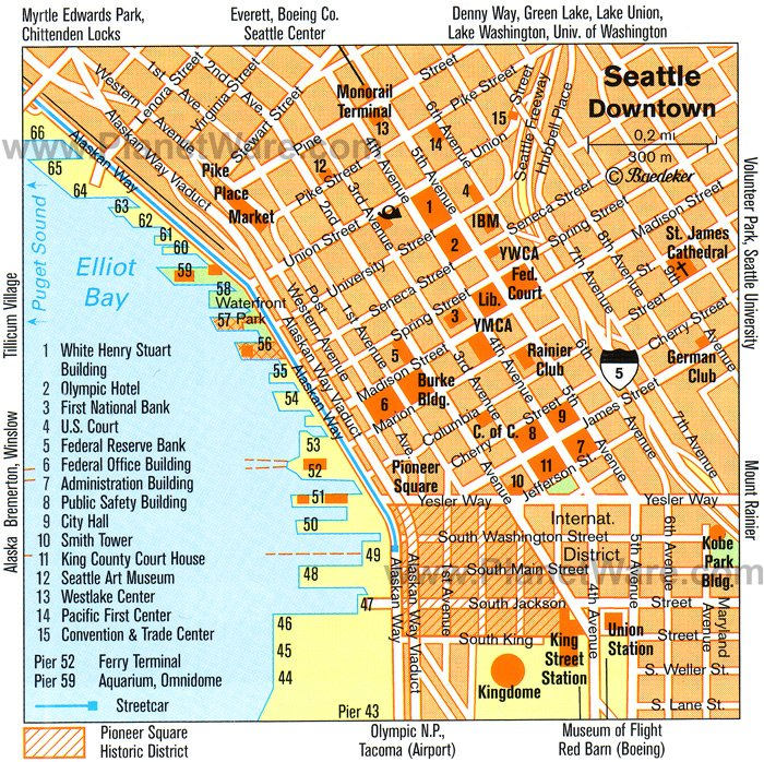 Seattle Map - Tourist Attractions