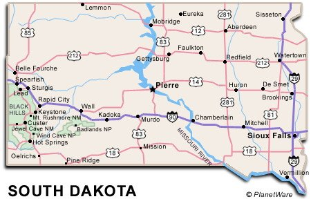 South Dakota Travel Guide PlanetWare