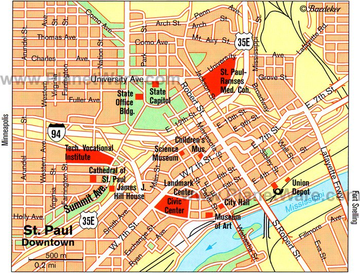 SAINT PAUL MAP – Tourist Attractions Map In Minnesota