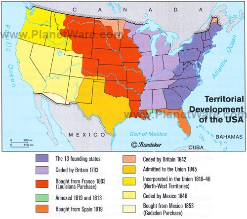 Maps Us Map Before Louisiana Purchase - Us map key