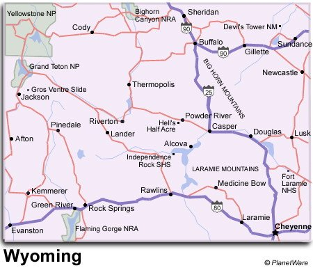 Map Of Wyoming Cities My Blog - Cities in wyoming map