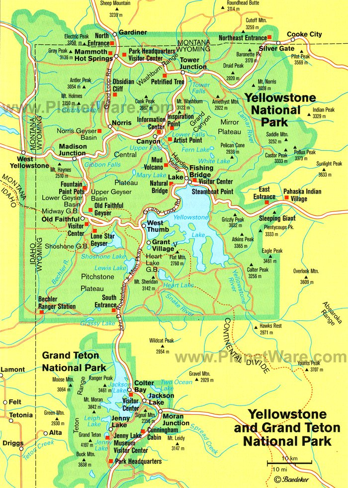 Yellowstone National Park - Floor plan map
