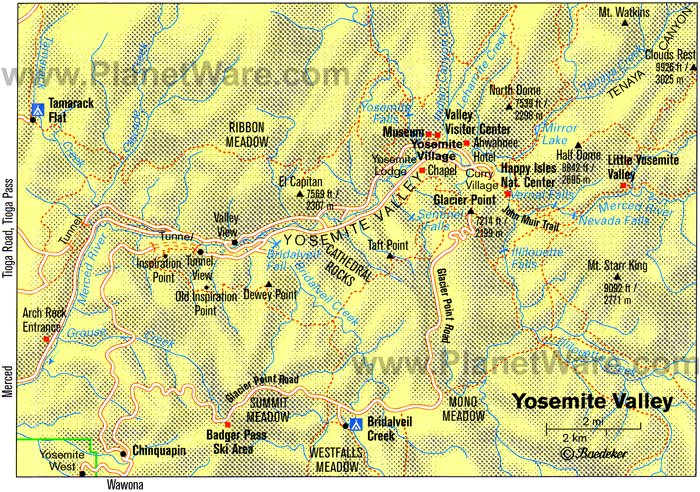 Images and Places Pictures and Info yosemite national park – Yosemite Tourist Map