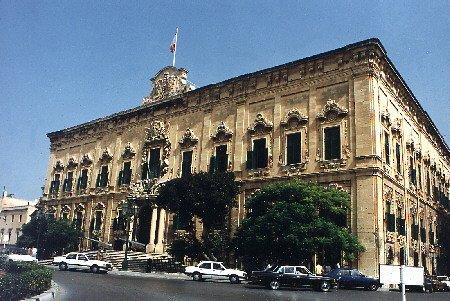 Auberge de Castille one of Valletta's most magnificent buildings.