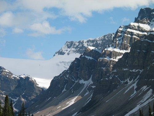 A glacier in Banff National Park.