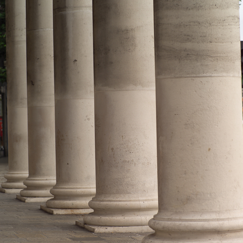 Images Of Ireland. Pillars on the Bank of Ireland