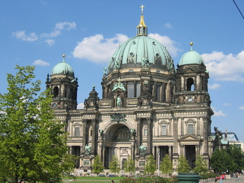 Baroque-style-architecture-cathedral-in-Berlin-Germany