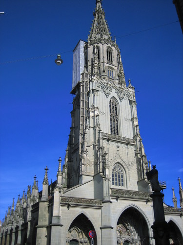 The gothic Munster St. Vinzenz in Bern is the tallest church in Switzerland.