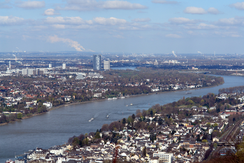 Map of the city of Bonn